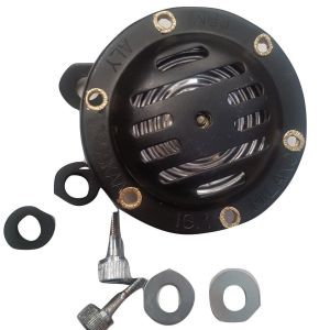 LAMBRETTA 12V AC MILANO TYPE BLACK HORN & FIXING KIT SCREWS AND GROMMETS NEW